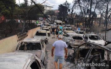 Συγκλονιστικές εικόνες από το Μάτι μετά τις φωτιές