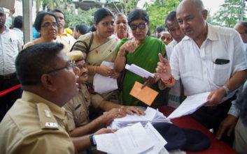 Τέσσερα εκατομμύρια πολίτες στην Ινδία κινδυνεύουν να χάσουν την υπηκοότητά τους