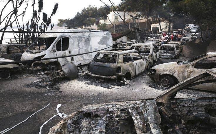 Εικόνες Αποκάλυψης μετά τη φωτιά στο Μάτι