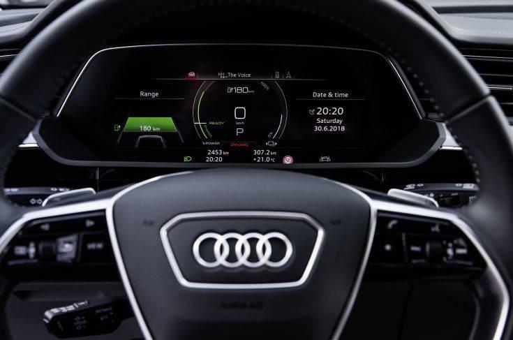 The interior of the Audi e-tron prototype