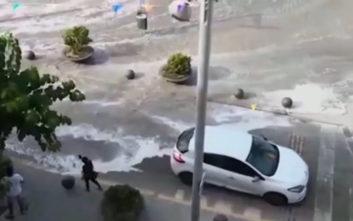 Τσουνάμι «χτύπησε» τη Μαγιόρκα, πλημμύρισαν δρόμοι και παραλίες