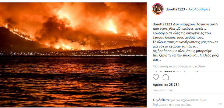 Θρήνος και οργή στα social media των διάσημων για την τραγωδία στην Αττική
