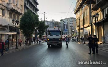 Διαμαρτυρία για τον ΧΥΤΑ Φυλής στο κέντρο της Αθήνας