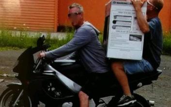Προσπάθησαν να διαφύγουν με μοτοσικλέτα, κουβαλώντας ένα μεγάλο ενυδρείο