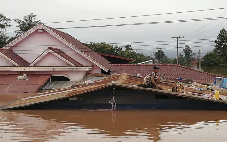 Δεκαεννέα νεκροί στο Λάος από κατάρρευση φράγματος
