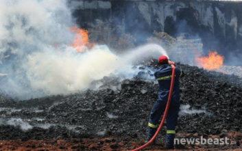 Αναζωπύρωση της φωτιάς στο Μενίδι