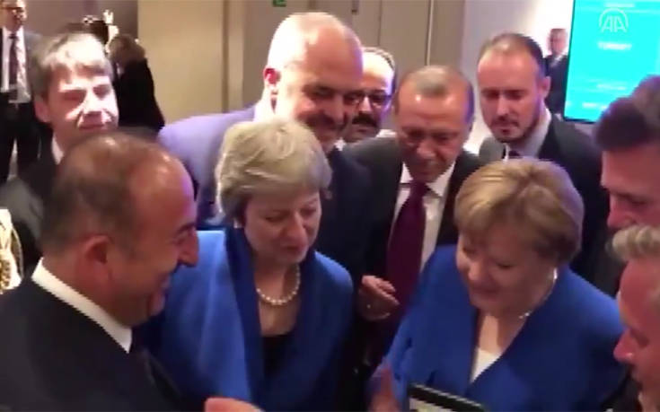 Η Μέρκελ, ο Ερντογάν και η Μέι βλέπουν τον ημιτελικό Κροατία – Αγγλία