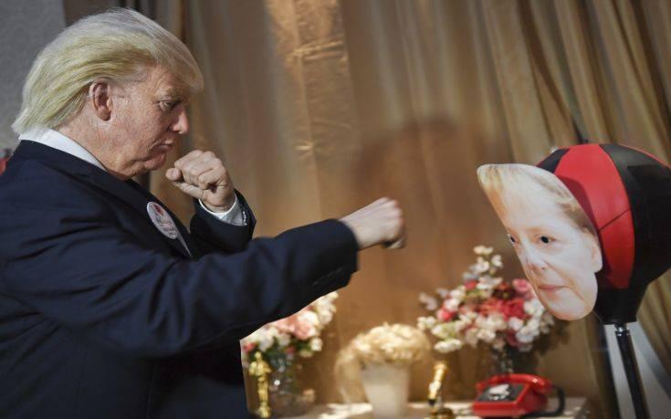 Ο Τραμπ γρονθοκοπεί τη Μέρκελ