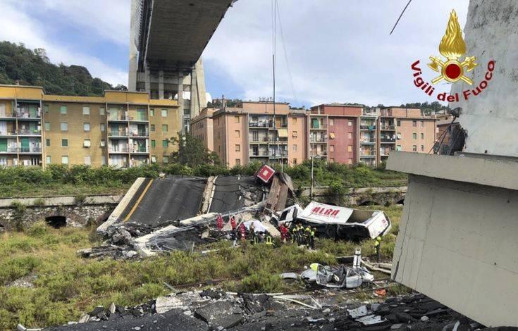Έως και 20 άνθρωποι θαμμένοι στα ερείπια της γέφυρας στη Γένοβα