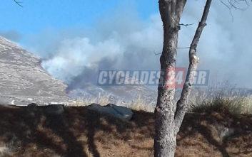 Νέα πυρκαγιά εκδηλώθηκε στη Πάρο