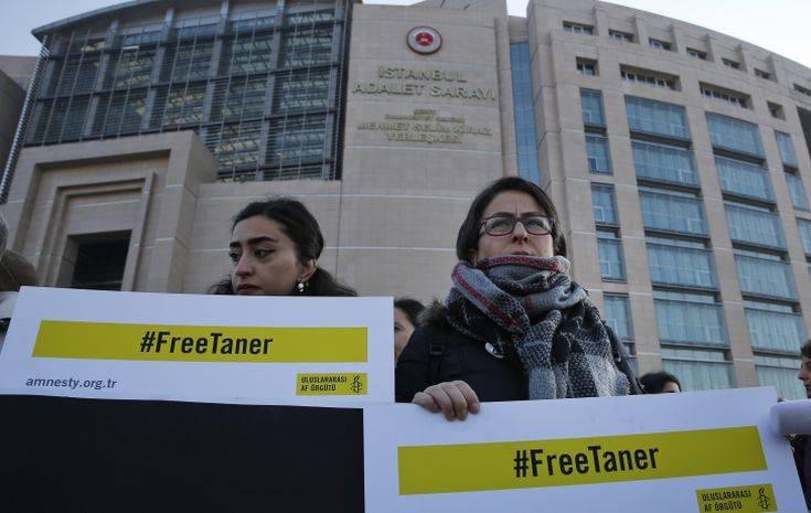Αποφυλακίστηκε και το επικεφαλής της Διεθνούς Αμνηστίας στην Τουρκία