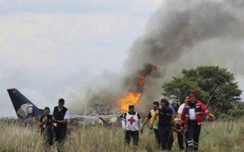 Στους 85 οι τραυματίες μετά την αναγκαστική προσγείωση και συντριβή επιβατικού αεροσκάφους της Aeroméxico
