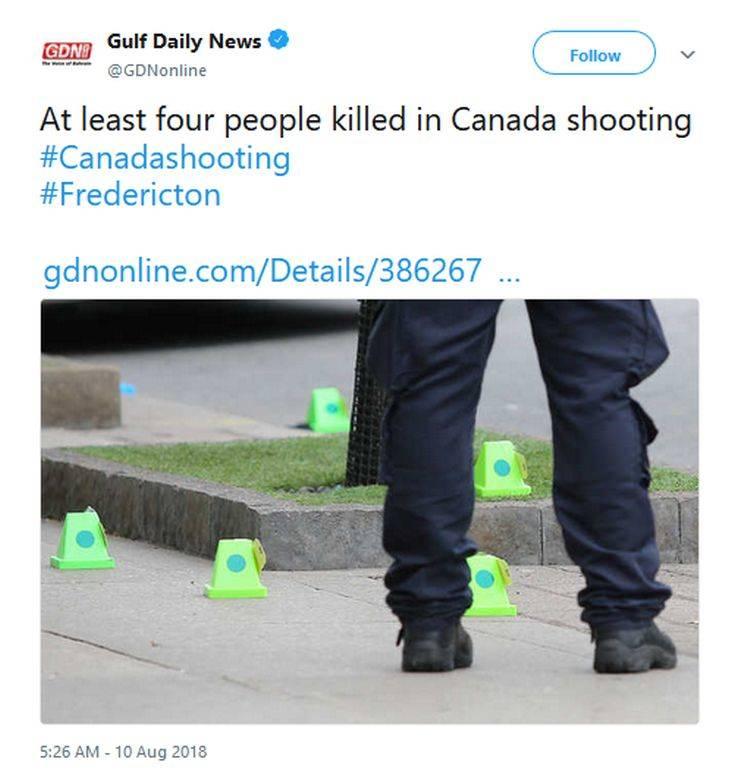 Ένας ύποπτος βρίσκεται υπό κράτηση για τους πυροβολισμούς στον Καναδά