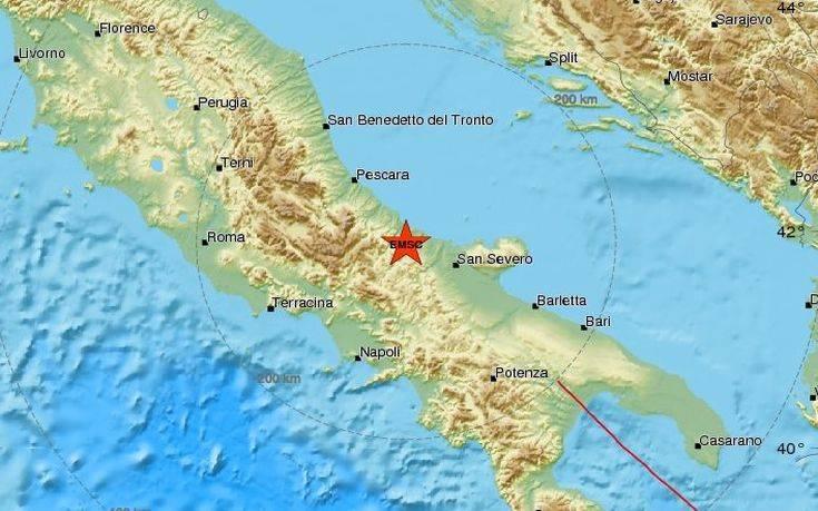 Σεισμός τώρα στην Ιταλία