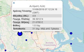 Ο σεισμός στην Καρδίτσα αναστάτωσε Τρίκαλα, Λαμία και Ιωάννινα