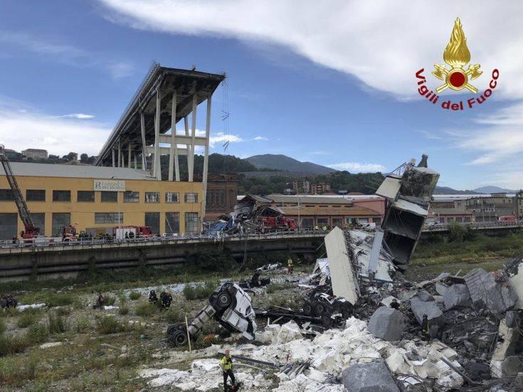 Επιβεβαιώνει ο Σαλβίνι ότι οι νεκροί στη Γένοβα είναι 35