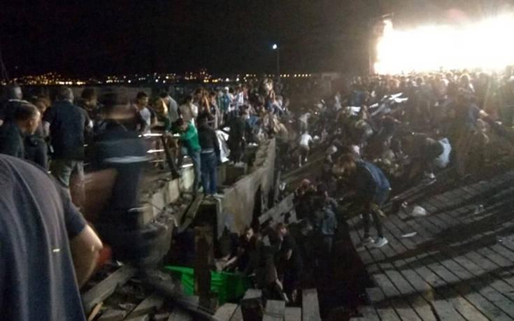 Εξέδρα κατέρρευσε σε φεστιβάλ στην Ισπανία, εκατοντάδες οι τραυματίες