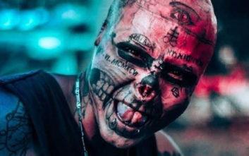 Ο άνθρωπος που μετέτρεψε το πρόσωπό του σε κρανίο σκελετού