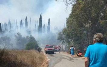 Εκκενώθηκε χωριό στην Κέρκυρα λόγω της πυρκαγιάς