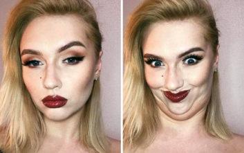 Όταν όμορφα κορίτσια κάνουν άσχημες γκριμάτσες