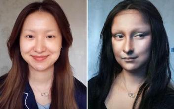 Η γυναίκα που ζωντανεύει γνωστούς πίνακες στο πρόσωπό της