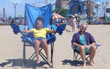 Καρέκλα παραλίας για παρέες