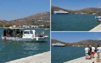 Προσάραξε καταμαράν στο λιμάνι της Άνδρου, σε εξέλιξη επιχείρηση του Λιμενικού