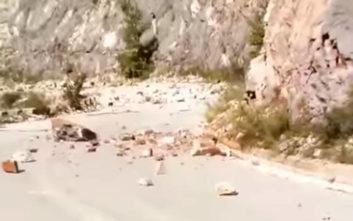 Κατολισθήσεις μετά το σεισμό έξω από ορεινό χωριό της Καρδίτσας
