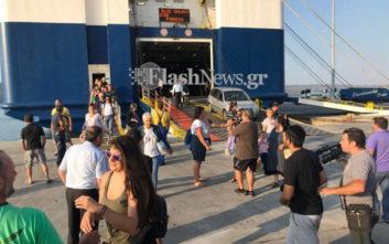 Έφτασαν στα Χανιά επιβάτες του «Ελευθέριος Βενιζέλος» που έπιασε φωτιά