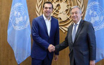 Συνάντηση με τον ΓΓ του ΟΗΕ είχε ο Αλέξης Τσίπρας