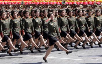 Κάτι έλειπε από αυτή τη στρατιωτική παρέλαση στη Βόρεια Κορέα