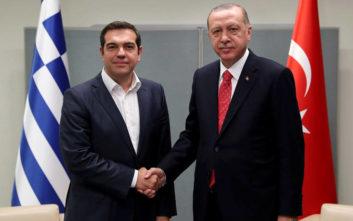 Σε εξέλιξη η συνάντηση Ερντογάν – Τσίπρα στην Άγκυρα