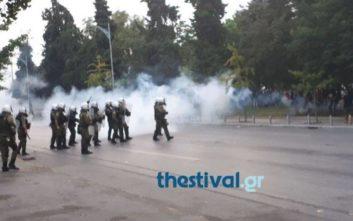Νέες εικόνες από τα επεισόδια στη Θεσσαλονίκη