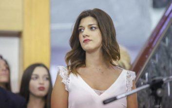 Η Κατερίνα Νοτοπούλου επέστρεψε στο σχολείο της για τον αγιασμό