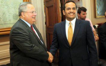 Η ενίσχυση της συνεργασίας Ελλάδας-Κατάρ στη συνάντηση Κοτζιά και αλ Θανί