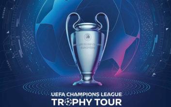 Σε περιοδεία το τρόπαιο του Champions League παρέα με τη Nissan