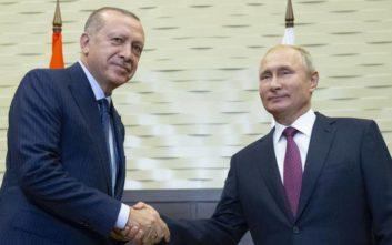 Τηλεφωνική επικοινωνία Πούτιν Ερντογάν για τη Συρία
