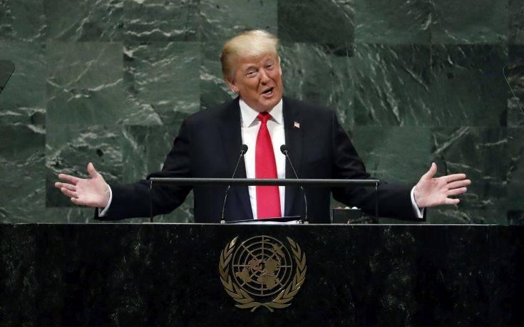 Η ατάκα του Τραμπ που προκάλεσε γέλια στη Γενική Συνέλευση του ΟΗΕ