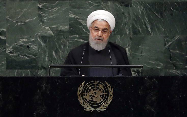 Ροχανί: Οι ΗΠΑ θέλουν να ανατρέψουν την κυβέρνηση του Ιράν