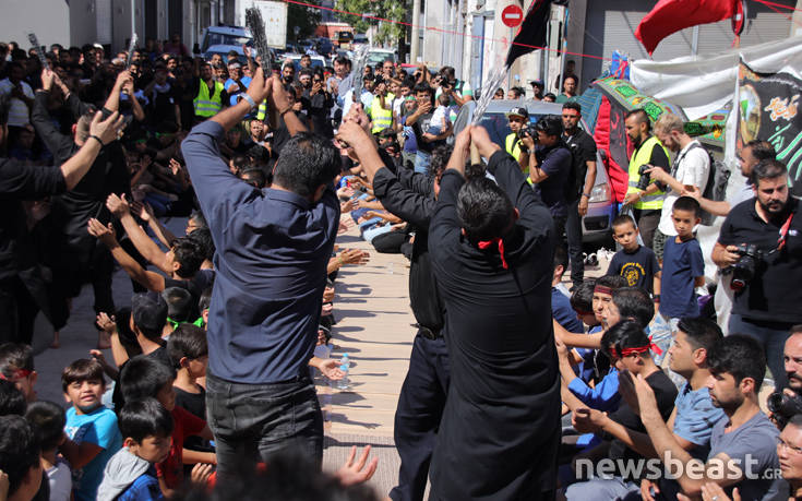 Το αυτομαστίγωμα των σιιτών μουσουλμάνων στον Πειραιά