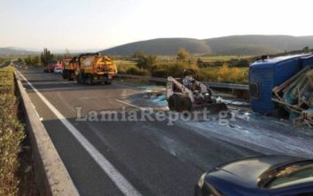Κανονικά η κυκλοφορία στην εθνική οδό Λαμίας - Αθηνών