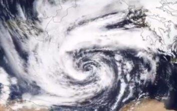 Ο Μεσογειακός κυκλώνας μέσα από τα μάτια της NASA