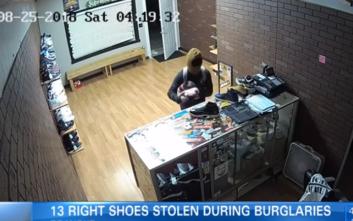 Κλέφτες πήραν από κατάστημα παπούτσια μόνο για το δεξί πόδι