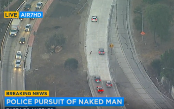 Η επεισοδιακή καταδίωξη ενός γυμνού άντρα μεταδιδόταν ζωντανά