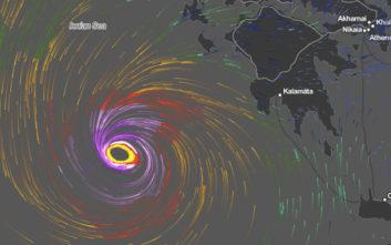 Η εκτίμηση του Εθνικού Αστεροσκοπείου Αθηνών για Μεσογειακό Κυκλώνα την Παρασκευή