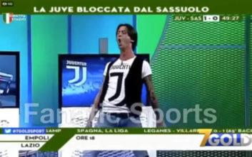 Ιταλός παρουσιαστής πανηγύριζε τα γκολ του Κριστιάνο όπως ο Πορτογάλος