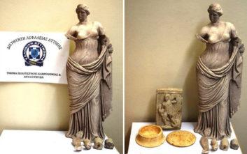 Αρχαία μεγάλης αξίας βρέθηκαν στην κατοχή άνδρα στο Λουτράκι