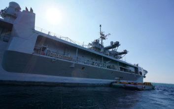 Ξενάγηση στη ναυαρχίδα του αμερικανικού στόλου