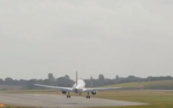 Συγκλονιστικές εικόνες από την αποτυχημένη προσπάθεια προσγείωσης Airbus