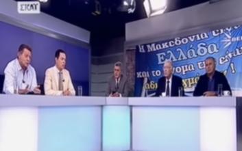 Ένταση στον αέρα του ΣΚΑΪ για τα πλάνα από το συλλαλητήριο για τη Μακεδονία